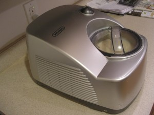 Our new ice cream maker!