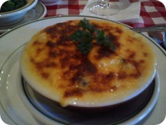 The Bon Ton Cafe's Crab au Gratin, one of the first pics taken with my cell phone camera