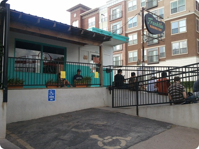 Franklin's Barbeque, 8:48 AM, more than 2 hours before opening time